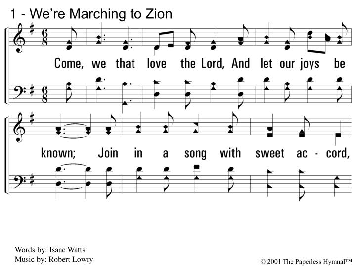 1 we re marching to zion n.