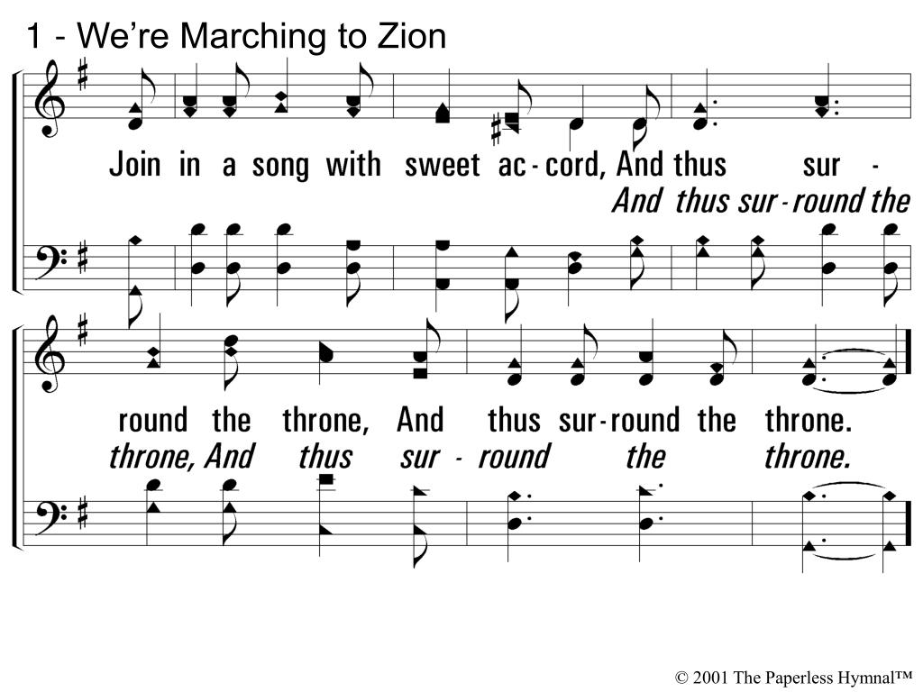 1 - We're Marching to Zion