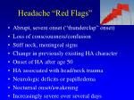 headache red flags