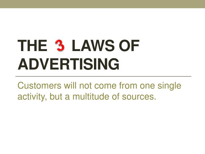 The laws of advertising