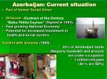 azerbaijan current situation