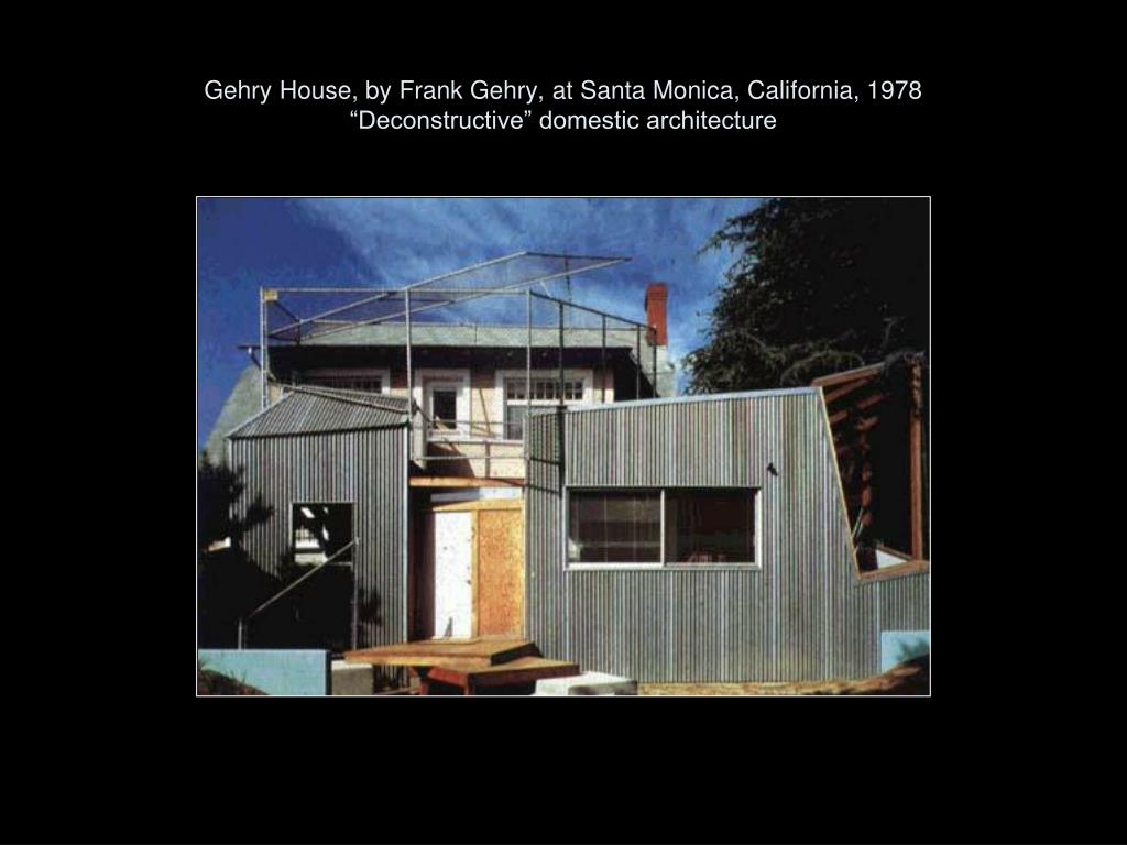 Gehry House, by Frank Gehry, at Santa Monica, California, 1978
