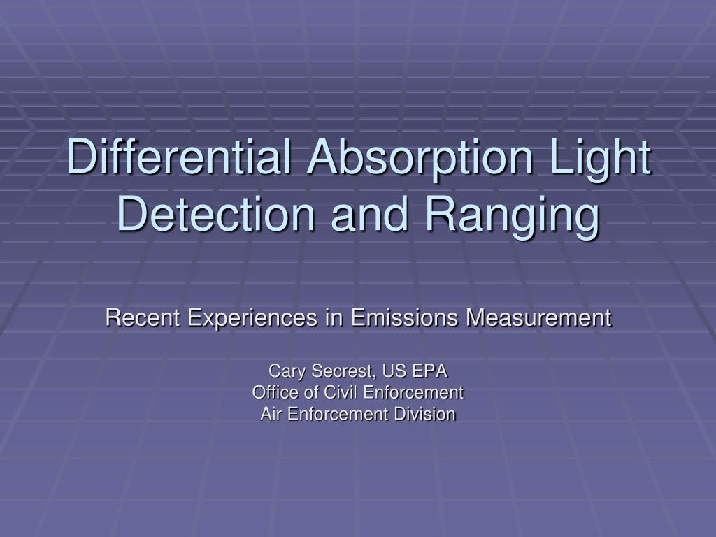 differential absorption light detection and ranging l.