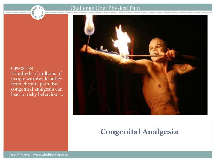 Congenital analgesia