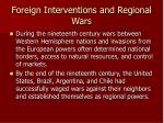 foreign interventions and regional wars