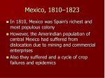 mexico 1810 1823