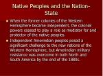 native peoples and the nation state