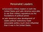 personalist leaders
