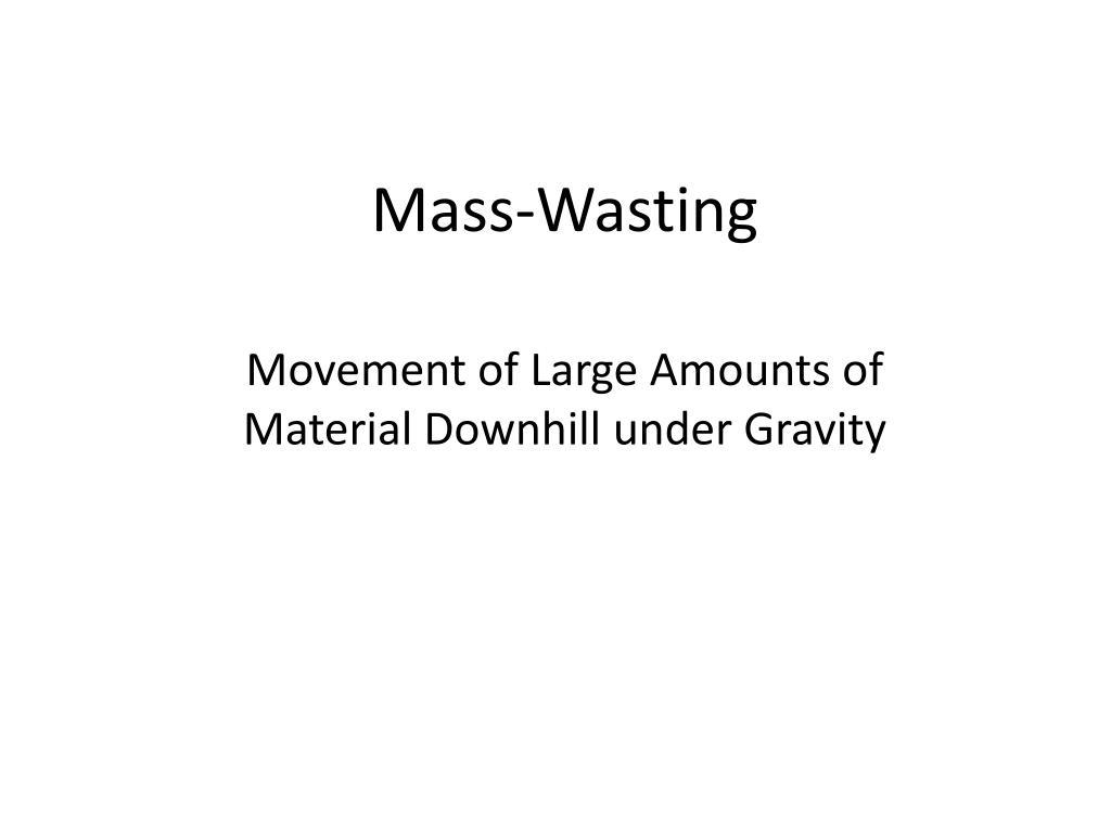 mass wasting l.