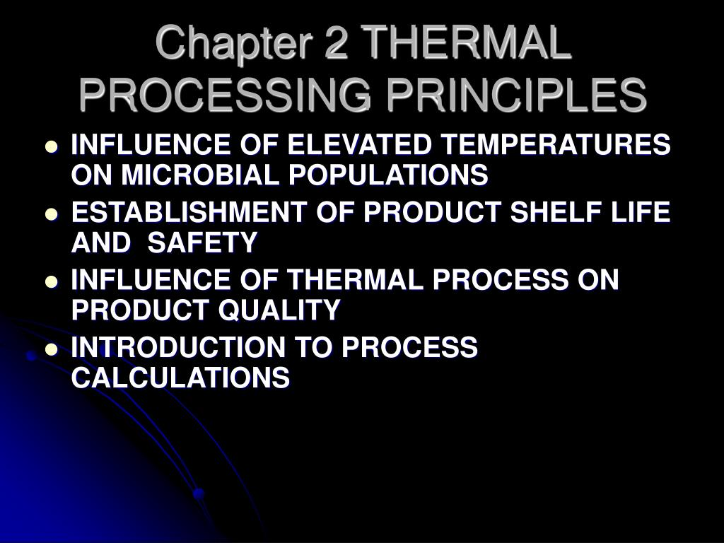 chapter 2 thermal processing principles l.