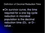 definition of decimal reduction time