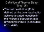 definition of thermal death time f
