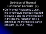 definition of thermal resistance constant z