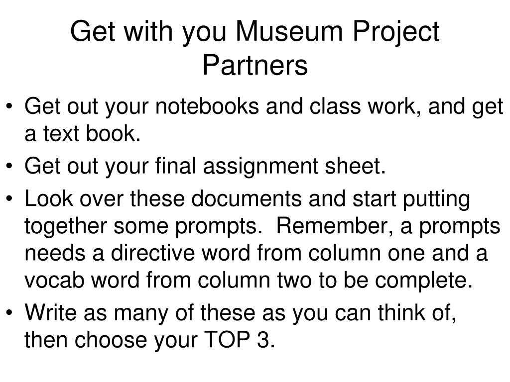 Get with you Museum Project Partners