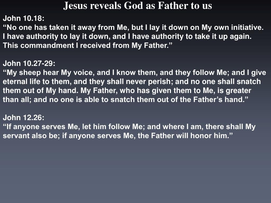 John 10.18: