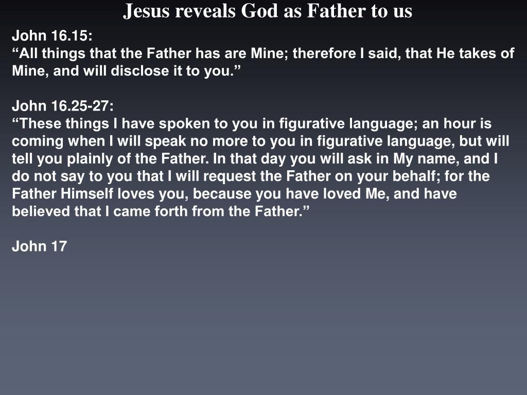 John 16.15: