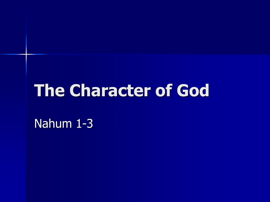 the character of god l.