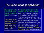 the good news of salvation