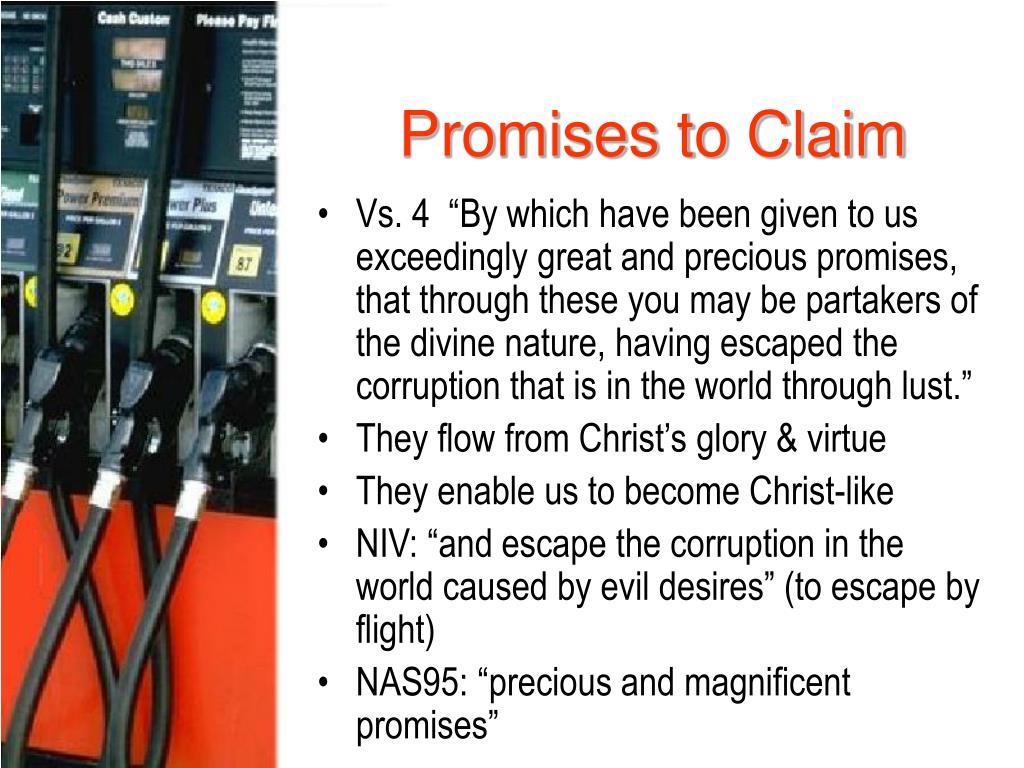 Promises to Claim