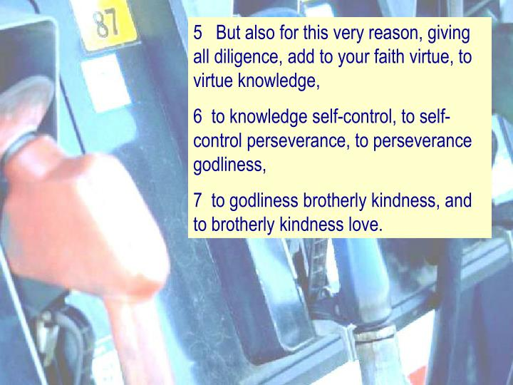 5   But also for this very reason, giving all diligence, add to your faith virtue, to virtue knowled...