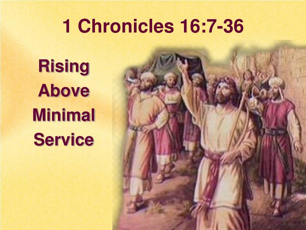 1 Chronicles 16:7-36