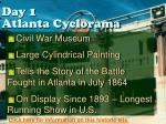 day 1 atlanta cyclorama
