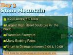 day 3 stone mountain