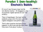 paradox 1 non locality einstein s bubble27