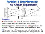 paradox 3 interference the afshar experiment37