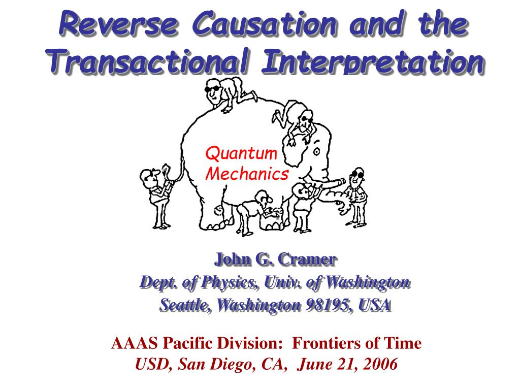 reverse causation and the transactional interpretation l.