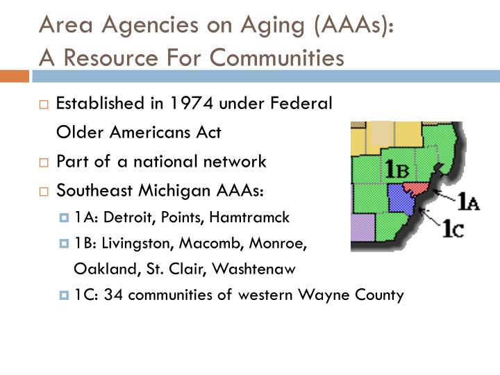 Area agencies on aging aaas a resource for communities