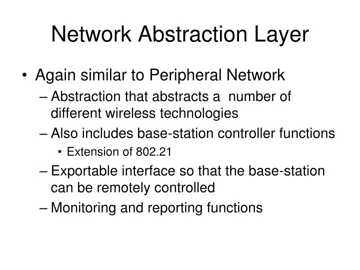 Network Abstraction Layer
