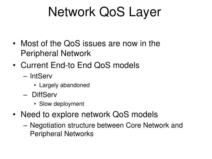 Network QoS Layer
