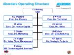 aberdare operating structure
