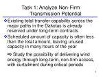 task 1 analyze non firm transmission potential