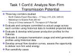 task 1 cont d analyze non firm transmission potential