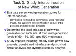 task 3 study interconnection of new wind generation