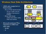 wireless host side architecture
