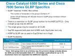 cisco catalyst 6500 series and cisco 7600 series glbp specifics