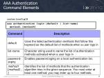 aaa authentication command elements