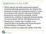 application to aa aas