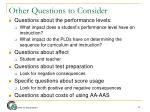 other questions to consider