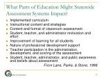 what parts of education might statewide assessment systems impact
