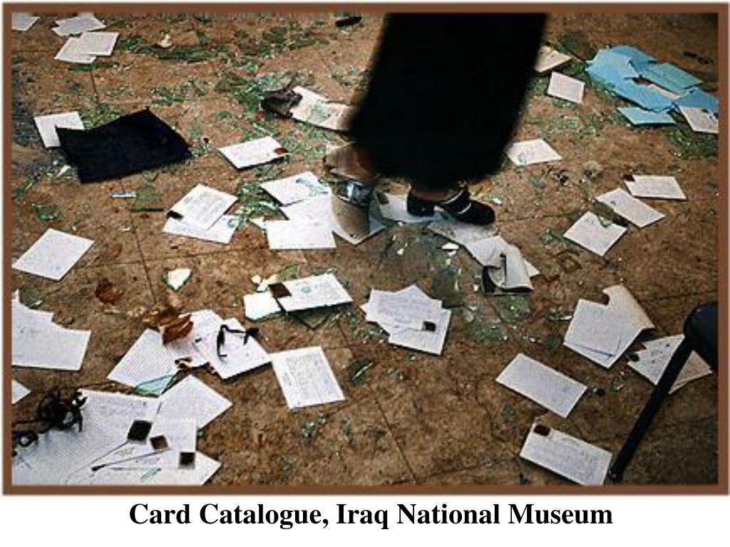 Card Catalogue, Iraq National Museum