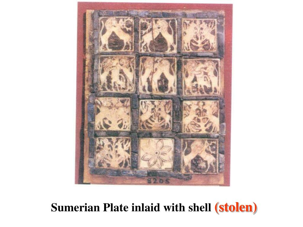 Sumerian Plate inlaid with shell