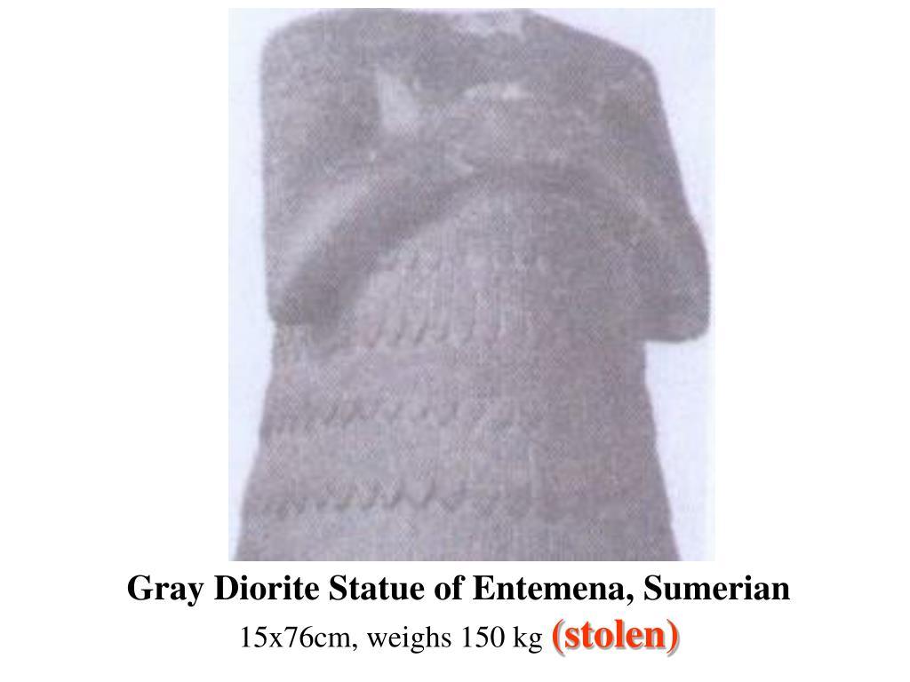 Gray Diorite Statue of Entemena, Sumerian