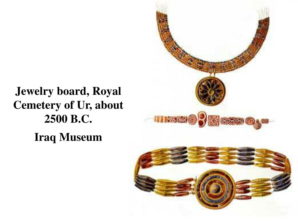 Jewelry board, Royal Cemetery of Ur, about 2500 B.C.
