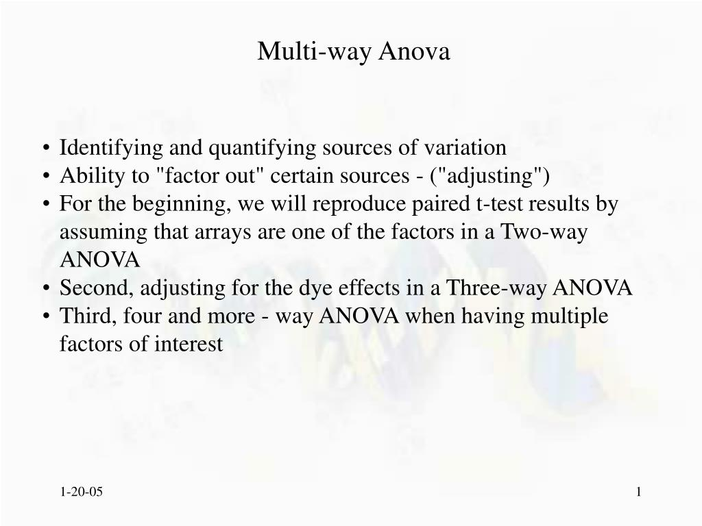 multi way anova l.