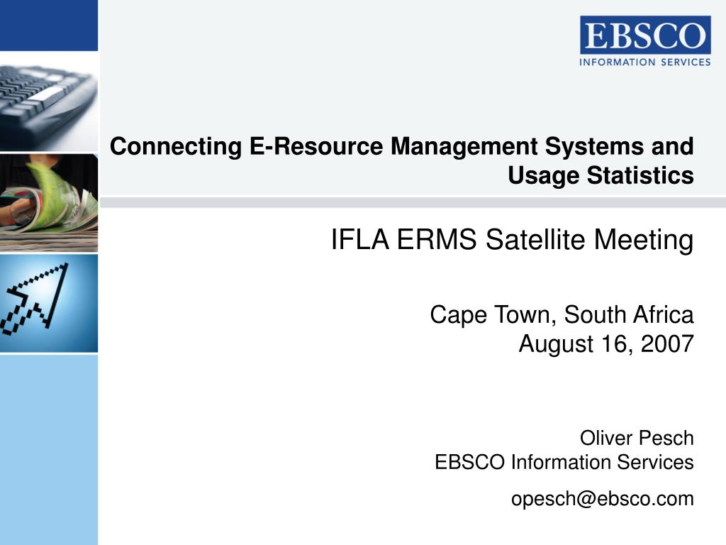 connecting e resource management systems and usage statistics l.