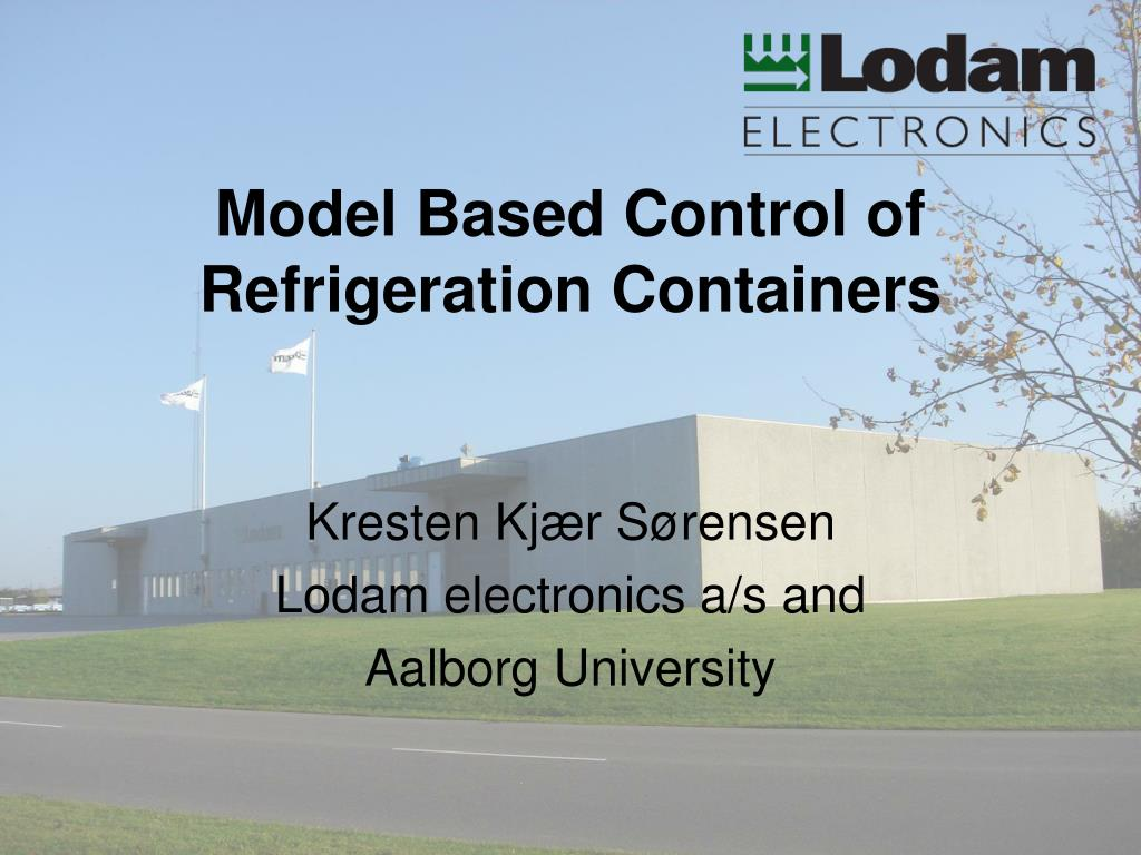 model based control of refrigeration containers l.